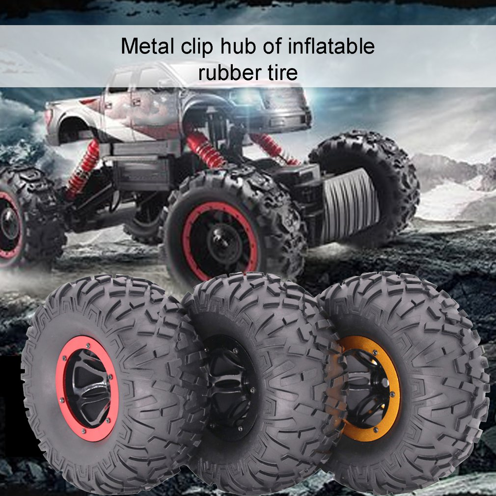 1/10 пульт дистанционного управления Большой Багги внедорожник надувные резиновые шины 2,2 дюймов колеса из нержавеющей стали для RC автомобил