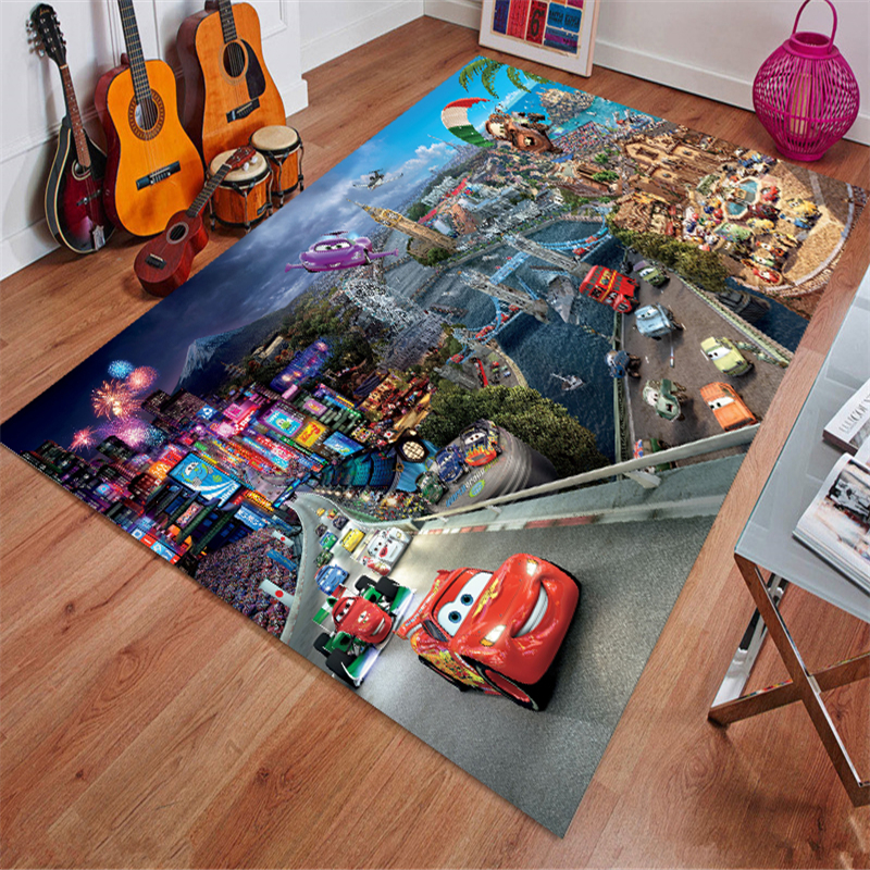Cars Mat Bathroom Child Boy Girl Carpet Hallway Doormat Anti - Slip Bathroom Carpet Absorb Water Kitchen Mat/Rug