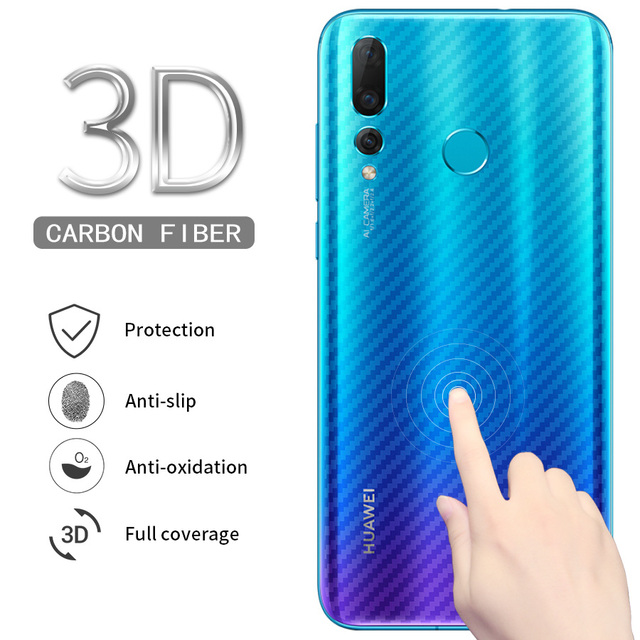 Carbon Fiber Back Screen Protector Sticker Film For Huawei Honor View 20 Pro 8x P Smart 2019 Nova 3i P20 P30 Lite Mate 20 Pro