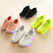 Hot sales soft LED lighted children sneakers classic Lovely cool kids shoes 5 stars excellent baby boys girls tennis