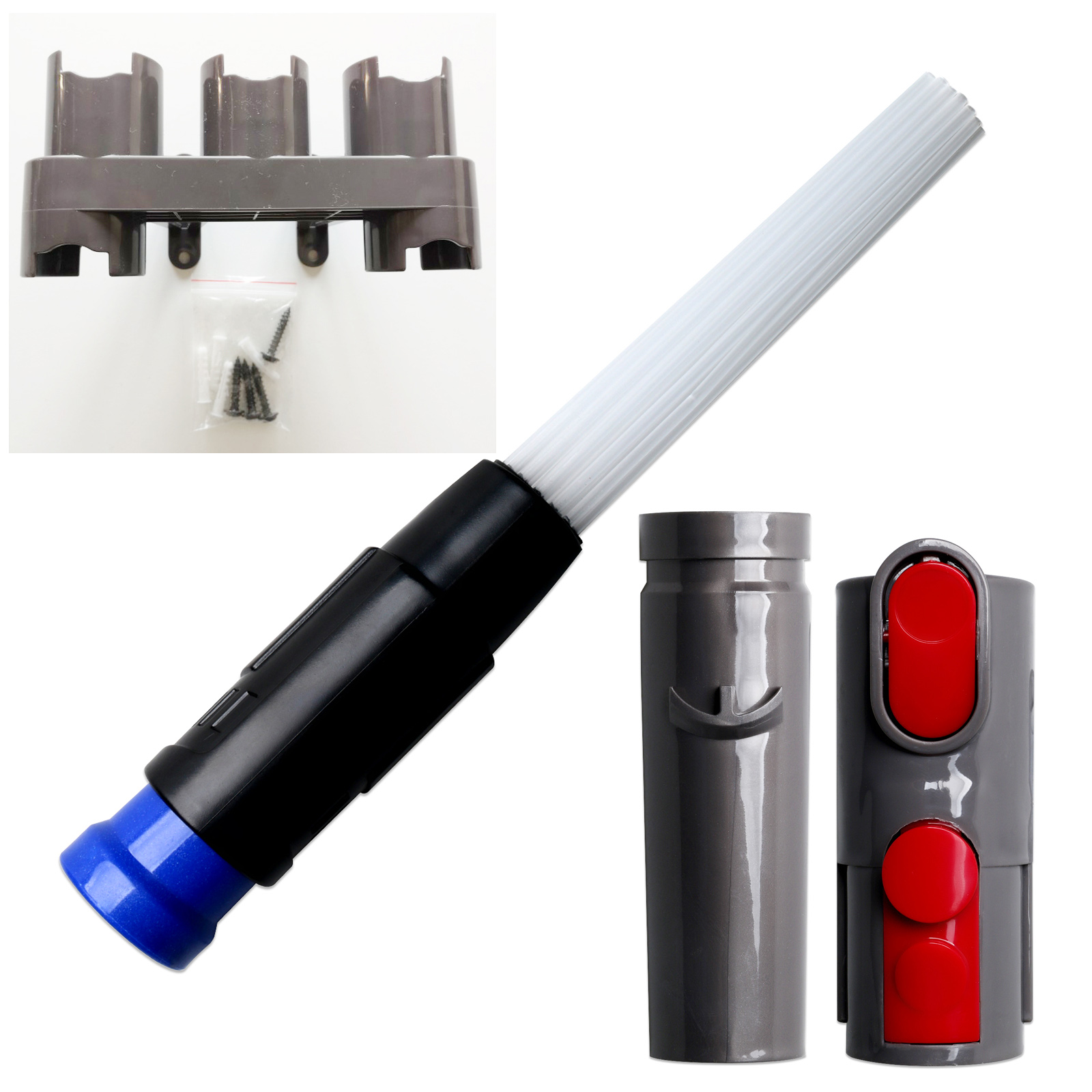 Storage Bracket Holder Stand for Dyson V8 V10 V7 Vacuum Cleaner with Cleaning Tool Attachment Brush Adaptor Set Accessories