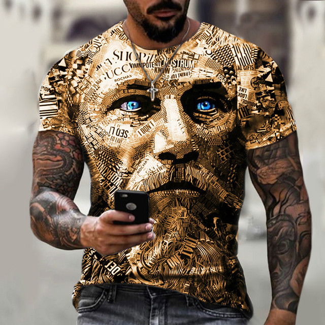 New style hot sale in 2021, 3D men's T-shirt, gentleman style design, short sleeves, summer fashion