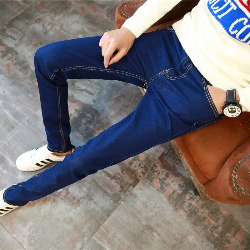 Fashion New Style Men's Spring And Autumn Jeans Korean-style Slim Fit Cool Simple Casual Teenager Trousers