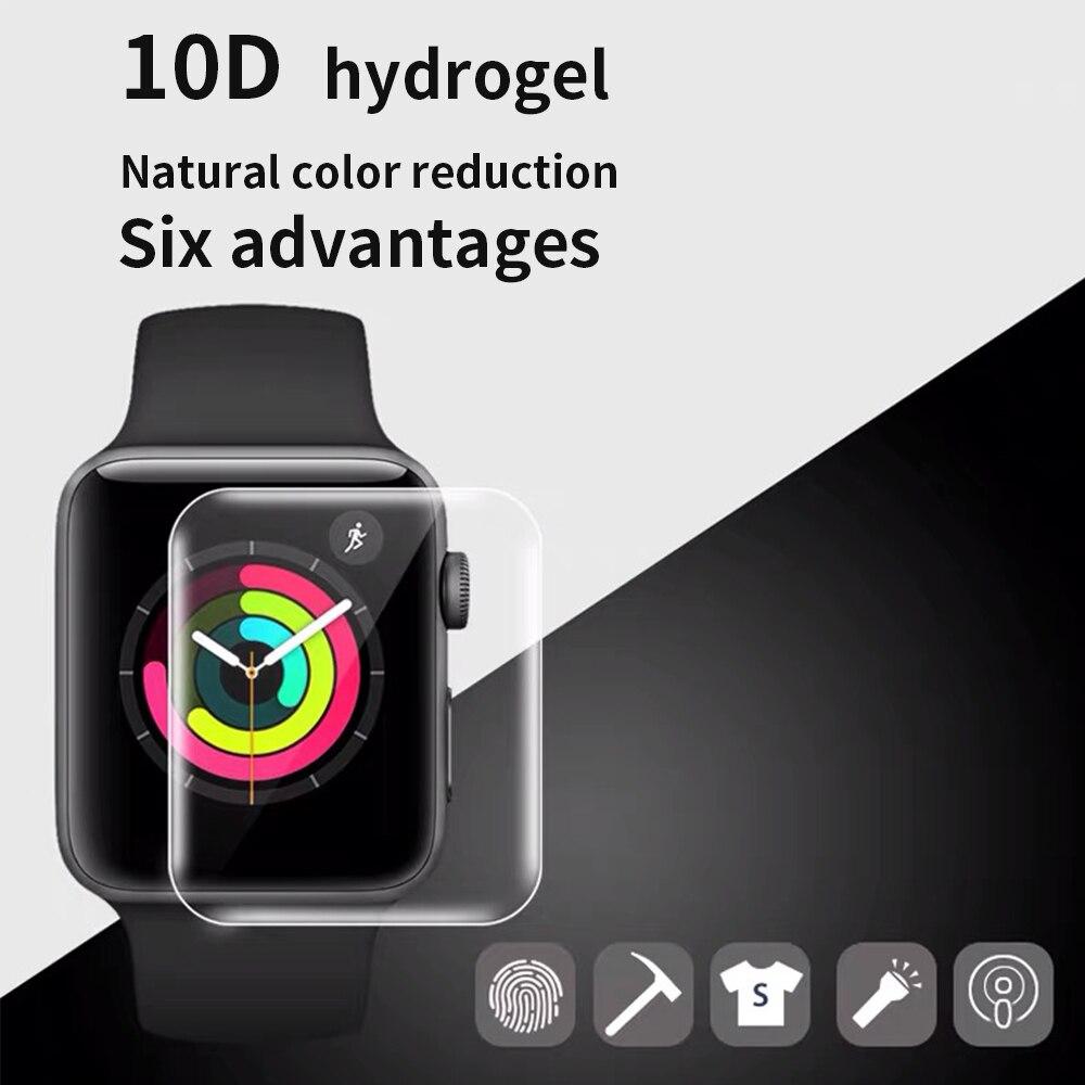 Película protetora tela transparente iwatch 5 4 3 2 1, película protetora completa para iwatch 40 m 44mm 38mm 42 m