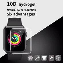 Protetor de tela clara cobertura completa película protetora para apple watch 5 4 3 2 1 película protetora para iwatch 40mm 44mm 38mm 42m