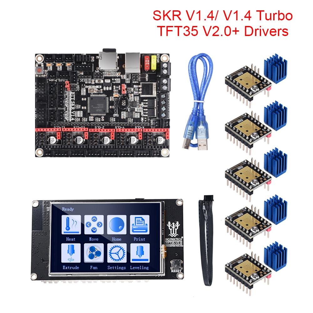 BIGTREETECH BTT SKR V1.4 SKR V1.4 Turbo 32 Bit Motherboard TFT35 V2.0 Touch Screen Upgrade SKR V1.3 TMC2209 UART TMC2208 Driver