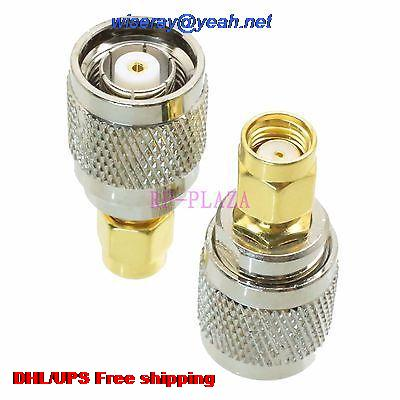 DHL/EMS 200pcs Adapter RPTNC Male To RPSMA Malel Straight RF COAXIAL With One Year Warranty -a4