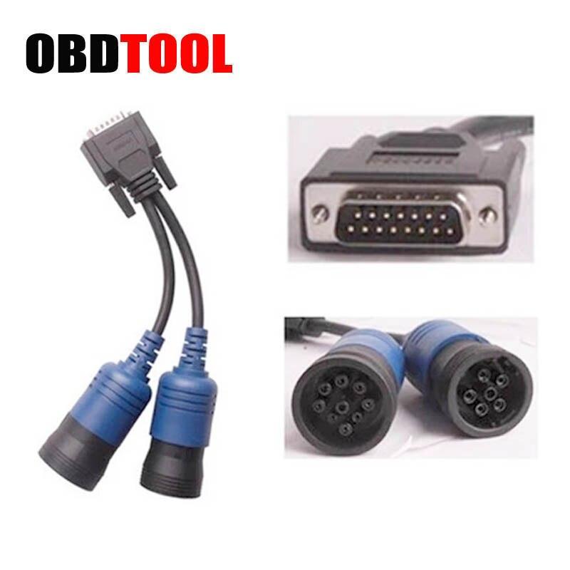 Gorąca Pn 405048 6 Pin 9Pin Y kabel przedłużający dla Cummins skaner Adapter do Nexiq 125032 Usb Link z silnikiem wysokoprężnym interfejs diagnostyczny