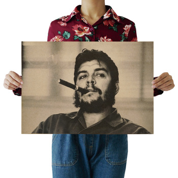 Che Guevara Character Retro Posters Advertising Nostalgic Old Bar Cafe Decorative Painting Vintage Wall Sticker 51.5x36cm image