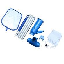 Portátil kit de limpeza da piscina de água vácuo spray manutenção ferramentas mais limpas com cabeça sucção skimmer net piscina acessórios