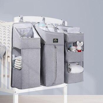 Sunveno Baby Storage Organizer Crib Hanging Storage Bag Caddy Organizer for Baby Essentials Bedding Set Diaper Storage Bag 9