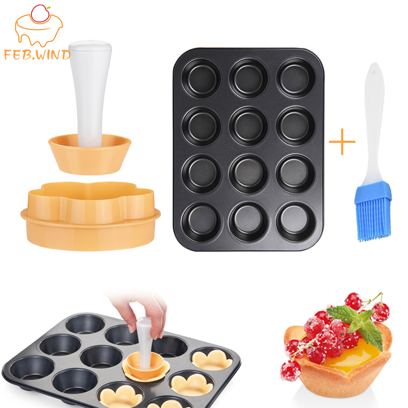 Mini Baking Pan Set Plastic Tart Tamper Pastry Dough Cookie Cutter Tart Shell/Crust Mold Cupcake Mold/Pan Muffin Tray/Tin    077