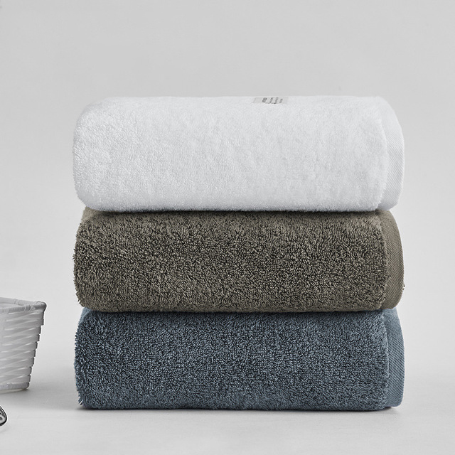100% Cotton Towel 70x140cm 400g Plain Color New Bath Towels Cotton Absorbent Bath Towels Cotton Plus Combed Cotton Bath Towels