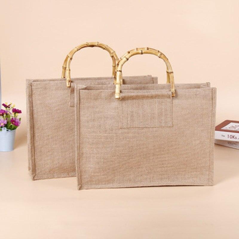 Arsmundi High-Quality Women Men Handbags Cotton Foldable Reusable Shopping Bag Rubbing Cart Eco Shoulder Organization Bag