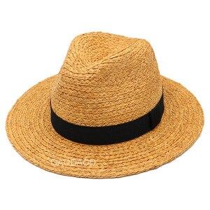 Image 3 - Duży rozmiar Panama kapelusz duże kości mężczyźni kobiety plaża fedora z szerokim rondem Cap wysokiej jakości Plus rozmiar rafia kapelusze słomkowe 57cm 59cm 61cm 63cm