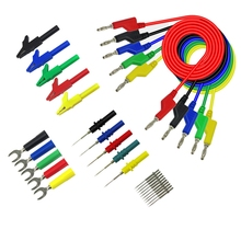 Test-Lead-Kit for Multimeter Match Alligator-Clip U-Type And Puncture-Test Porbe-Kit