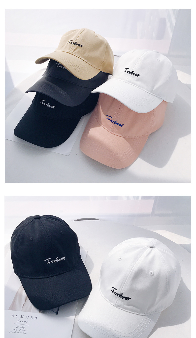 Hat Men and Women Summer Leisure Ulzzang Soft Top Baseball Cap Curved Street Cap Tide Color : Black
