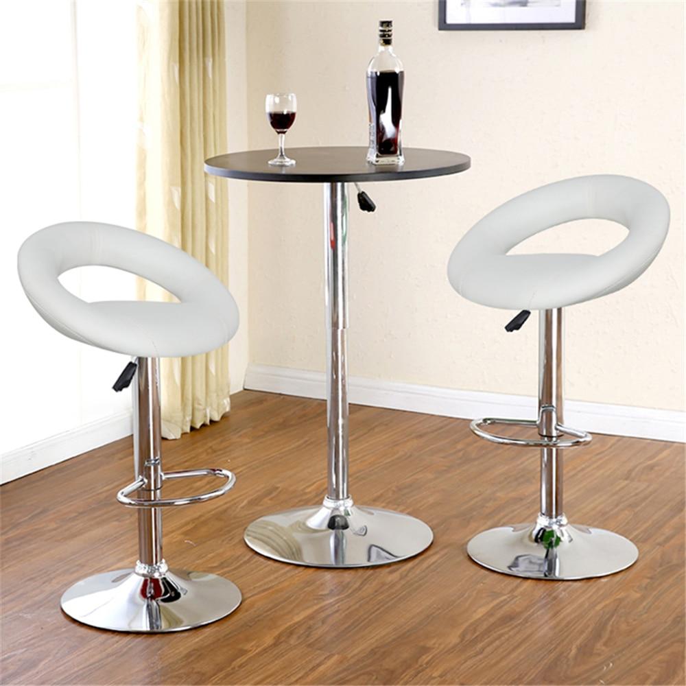 2PCS European Stylish Swivel Rotating Bar Chair Gas Liftable Bar Stool Moon Bay Design Barstool for Home Living Room Decor HWC   - title=