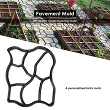 Floor Path Walk Maker Mould Reusable DIY Paving Stepping Stone Concrete Mold for Household Lawn Patio Yard Park Garden Tools