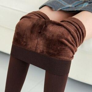 Image 4 - NORMOV vrouwen Warm Leggings Hoge Taille Elastische Dikke Fluwelen Leggings Legins Fitness Solid Slim Legging Vrouwelijke Plus Size