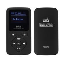 Multimedya oynat taşınabilir cep DAB/DAB +/FM radyo alıcısı kulaklık lcd ekran ekran şarj edilebilir multimedya oynatıcı