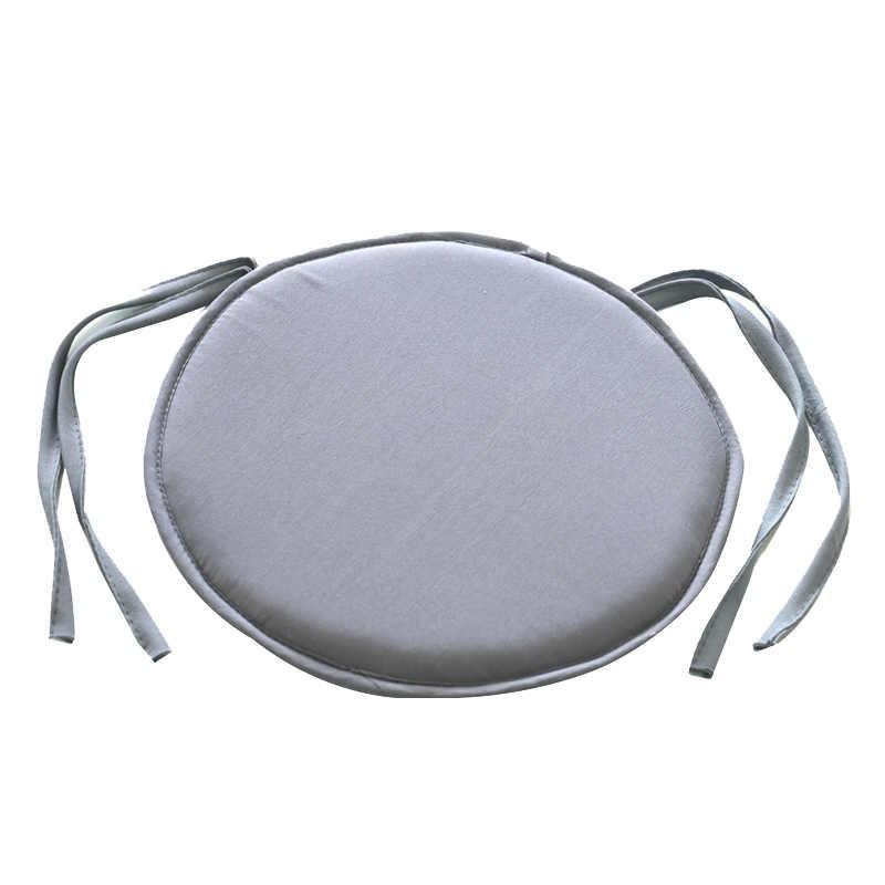 สไตล์เรียบง่ายแบบพกพา Indoor Dining Garden Patio โฮมออฟฟิศห้องครัวเก้าอี้กลมเบาะรองนั่งเบาะสี่ผูก 2 ขนาด