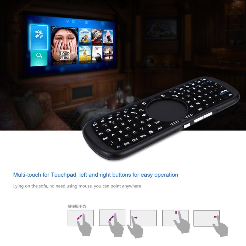 Mini 2.4Ghz Draadloze Bluetooth Null Muis Toetsenbord Voor Bluetooth-apparaten Engels Spaans Frans Drie Toetsenborden