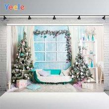Рождественский фон для фотосъемки yeele Фотофон с голубым окном