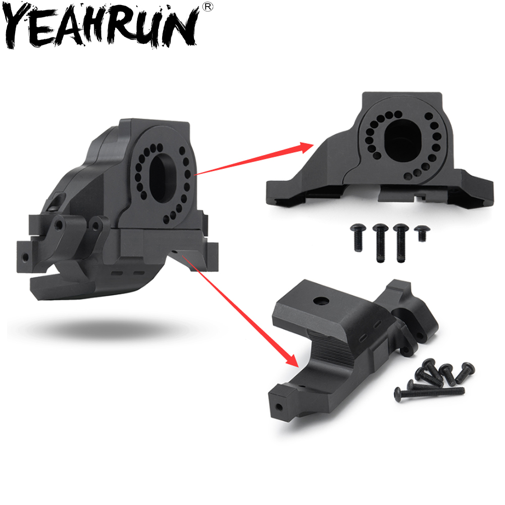 YEAHRUN Metal Aluminium Alloy Heat Sink Motor Mount Base Holder for TRX4 1/10 RC Crawler