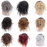 BUQI Synthetische Chignon Haarknoten Gerade Elastische Band Hochsteckfrisur Haarteil Chaotisch Scrunchies Wrap für Pferdeschwanz Haar Verlängerung für Frauen