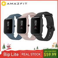 Globalna wersja Amazfit Huami Bip Lite 2 oryginalny xiaomi Smartwatch gps 45 dni długi na baterie Gloness tętno HUAMI Smartwatch