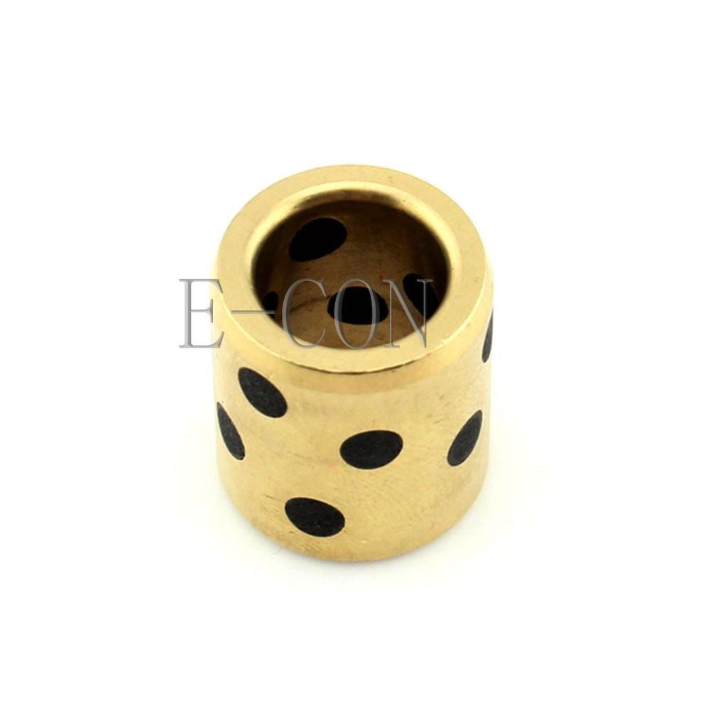1PCS JDB Oilless Graphite Lubricating Brass Bearing Bushing Sleeve 6x10x10mm