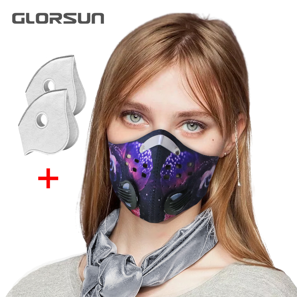 GLORSUN Anti Dust Mask N99 Neoprene N95 Smog Fog Motorbike Riding Face Mouth Black Custom N99 Pm2.5 Training Sports Mask