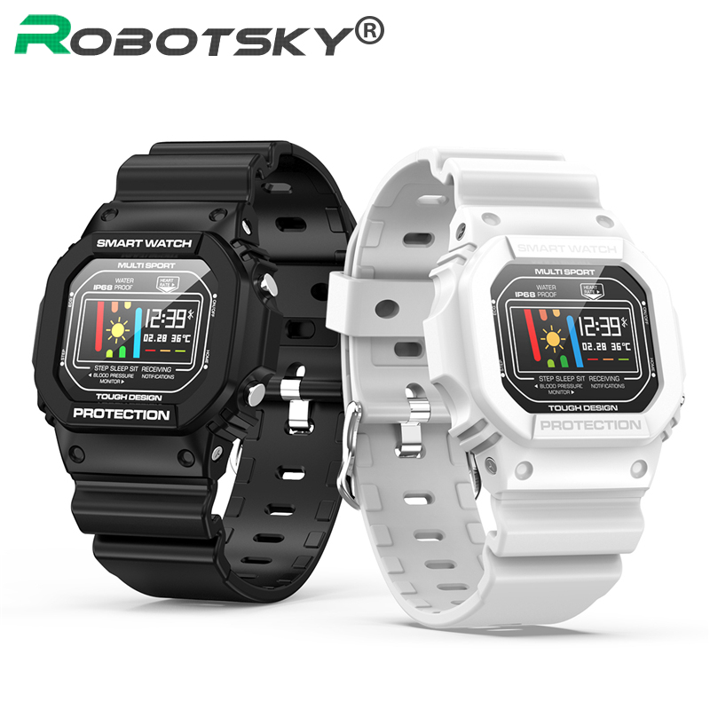 Robotsky <font><b>X12</b></font> Sport <font><b>Smartwatch</b></font> IP68 Waterproof For Smart Watch 10M Remote Camera Heart Rate Monitor Fitness Tracker Android IOS image