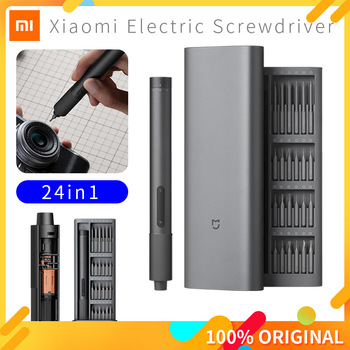 Xiaomi Mijia Electric Precision Screwdriver Kit 2 Gear Torque Control 400 Screw 1 Type-C Rechargeable Magnetic Aluminum Case