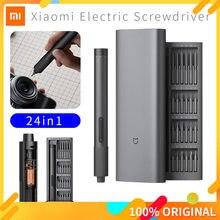 Xiaomi Mijia Elektrische Präzision Schraubendreher Kit 2 Getriebe Drehmoment Control 400 Schraube 1 Typ-C Wiederaufladbare Magnetische Aluminium Fall