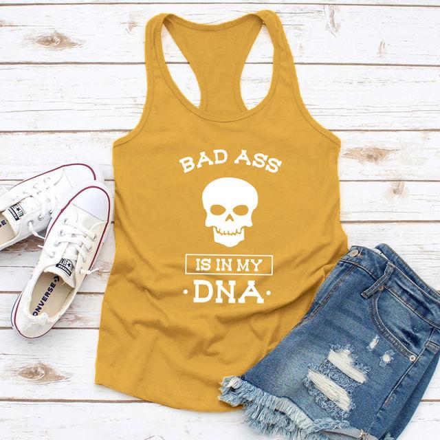 VEST BAD ASS IS IN MY DNA TANK TOPS (6 VARIAN)