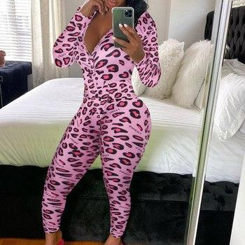 Sexy Onesie for Adult Cartoon Pajamas Onesie Pyjamas Women Sleepwear Long Jumpsuit Print Party Chris