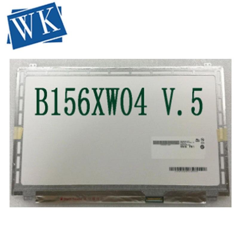 Trasporto libero B156XW04 V.5 B156XW03 N156BGE-L41 L31 B1 N156B6-L0D LTN156AT20 AT30 LP156WH3 TLS1 TLAC schermo lcd del computer portatile 40pin