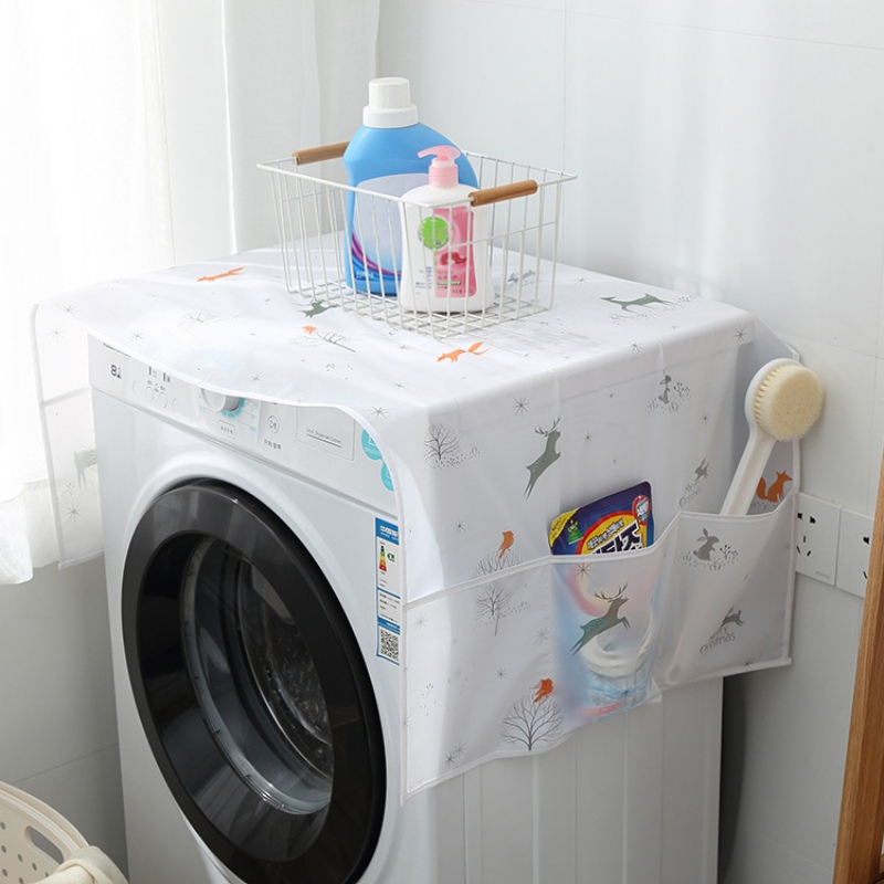 Fridge Dust Cover Multi-Purpose Washing Machine Top Cover Waterproof Refrigerator Covers