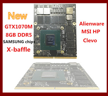 new For Dell Alienware/MSI/Clevo Laptop nVIDIA GeForce GTX1070M 8g GPU GDDR5 video Card Send BY DHL N17E-G2-A1 GTX 1070M
