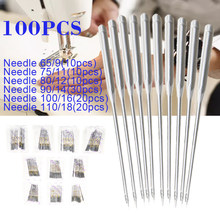 100pcs/set HAX1 Sewing Needles Universal Flat Shank for Singer Brother Janome Toyota Household Sewing Machine Needle Fittings(China)