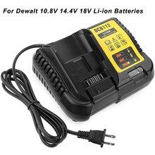 Ładowarka do akumulatorów litowo jonowych Dewalt 10.8V 14.4V 18V Adapter DCB105 DCB015 DCB105 szybka ładowarka wymiana ładowarki ue/usa