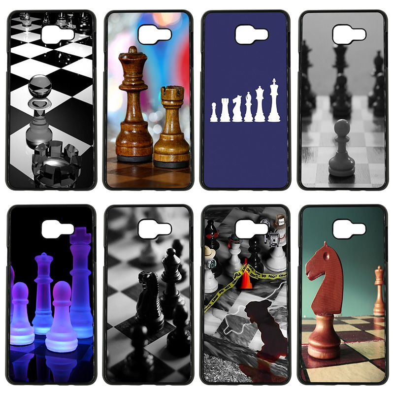 Hot Chess <font><b>Board</b></font> Pieces Cell Phone Case Hard PC Plastic Cover for <font><b>Samsung</b></font> <font><b>Galaxy</b></font> S8 S9 Plus <font><b>S3</b></font> S4 S5 Mini S7 S6 Edge Plus Shell image