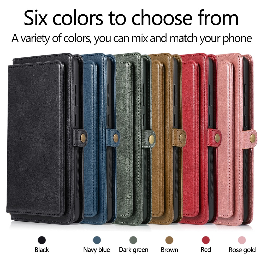 Detachable Magnetic Flip Leather Case for Samsung Galaxy Note 20