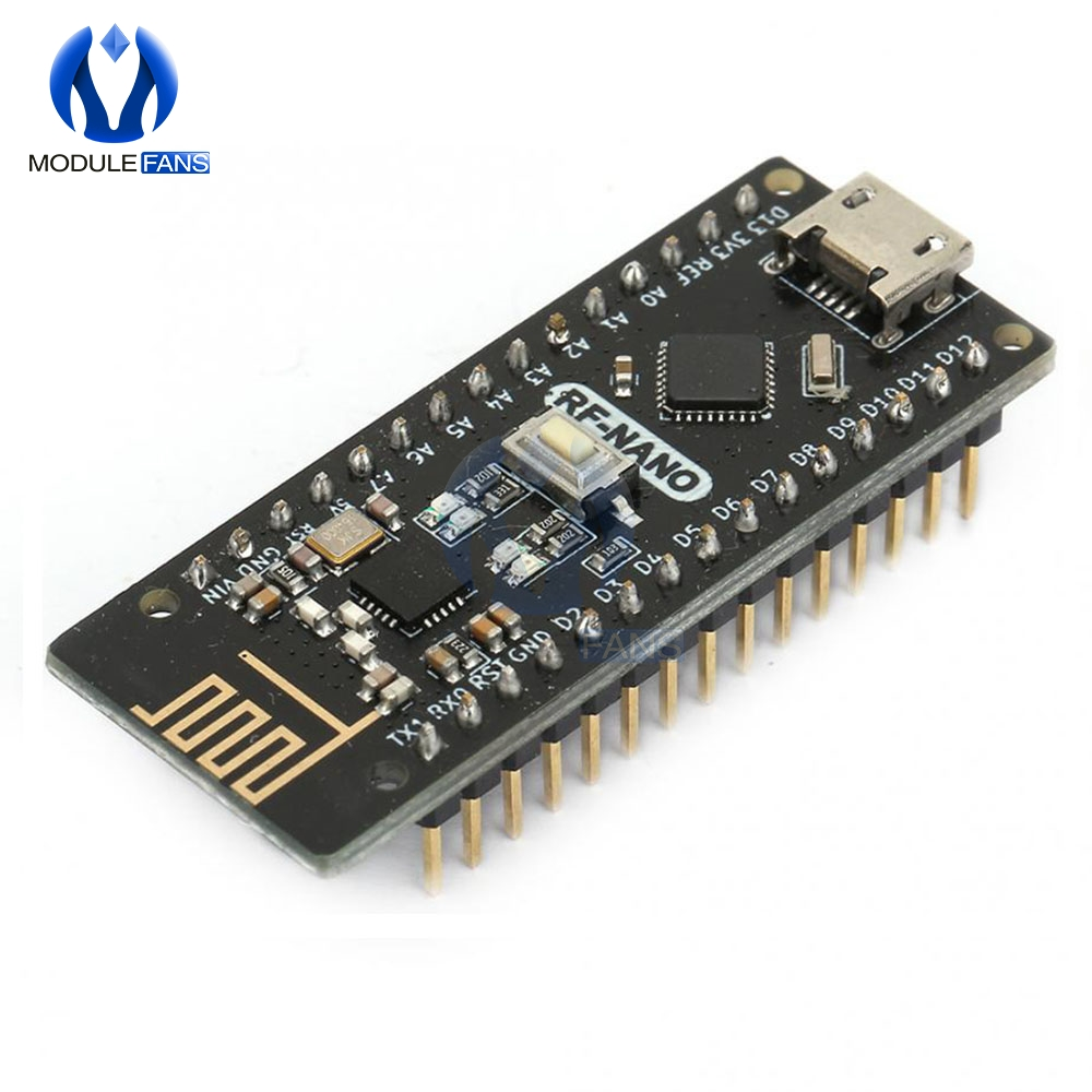 Плата Micro USB RF-Nano V3.0 ATmega328P QFN32 5 в 16 м CH340 Integrate NRF24l01 + 2,4G Беспроводная для Arduino