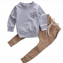 Детский свитер, комплекты одежды комплект из 2 предметов, зимний хлопковый свитер и штаны для новорожденных модный детский повседневный комплект из 2 предметов scallywag crew