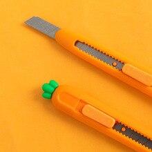 Novelty Carrot Design Utility Knife Letter Opener Steel Scra