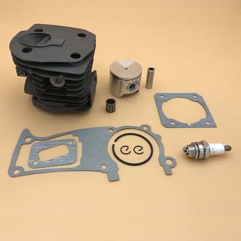 Pistón de cilindro Chapado en NIKASIL de 44MM, Kit de juntas de bujía de Motor para HUSQVARNA 350 353 351 346 XP 346XP, piezas de motosierra