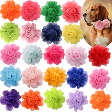 Big Flower-Collar 50px Large Dog Supplies Slidable Dog Bow Tie  Pet Dog Collar Accessories Small Dog Cat Bowties Collar Charms